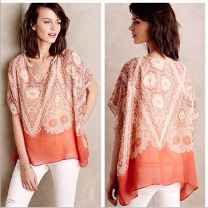 Anthropologie Maeve Nalina Silk Blouse